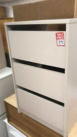 Bergen Internal 3 drawer chest