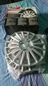 silver 13 inch wheel trims new boxed bargain £10