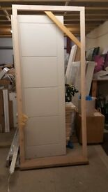 Brand New: Softwood door frame with hardwood cill