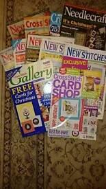11 cross stitch / sewing magazines