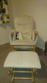 Kiddicare rocking nursing chair and footstool