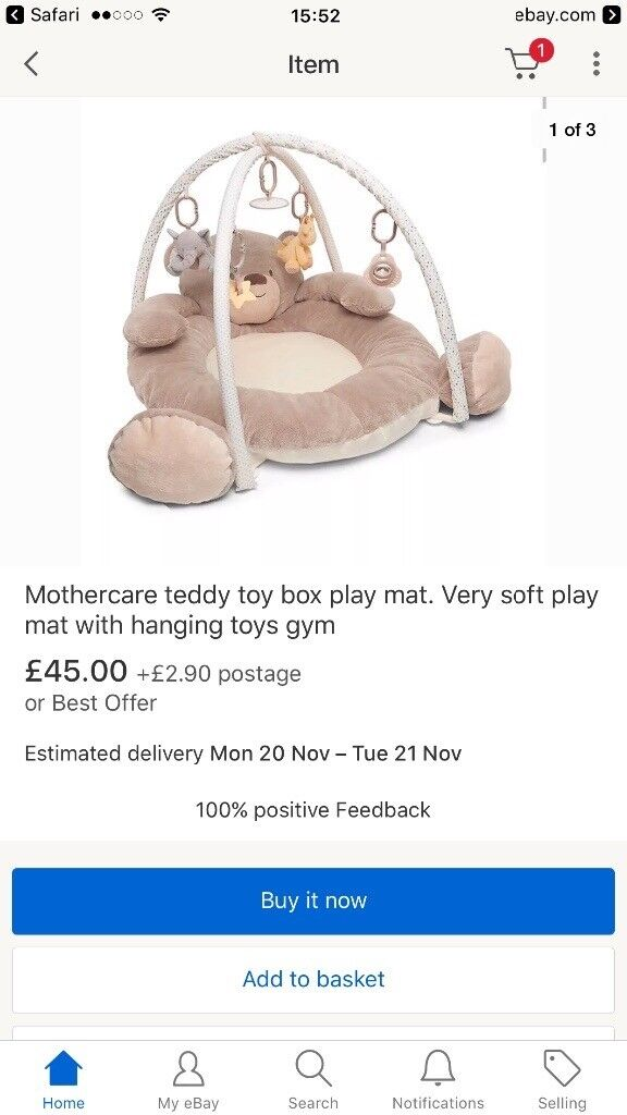 Mothercare playmat play gym