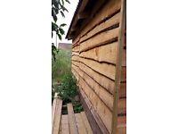 Large Waney-edged Shed / Summer House - 3.6m x 6m