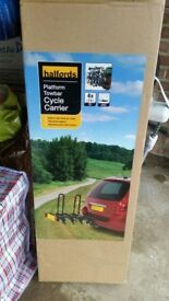 Still Sealed in Box Brand New Halfords 4 Bike Tow-bar Platform Bike Bicycle Cycle Carrier Rack