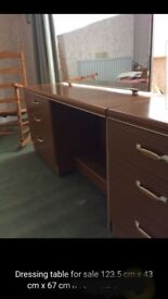 Dressing table and 2 bedside cabinets