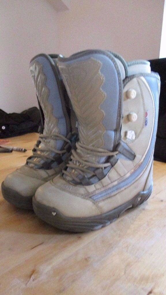 QUICKSILVER ROXY POLARA Grey Women's Snowboard boots UK Size 6