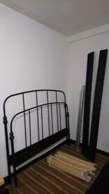 Iron Double Bed frame with Comfy Mattress (IKEA)