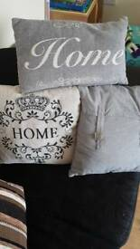 Selection of cushions.