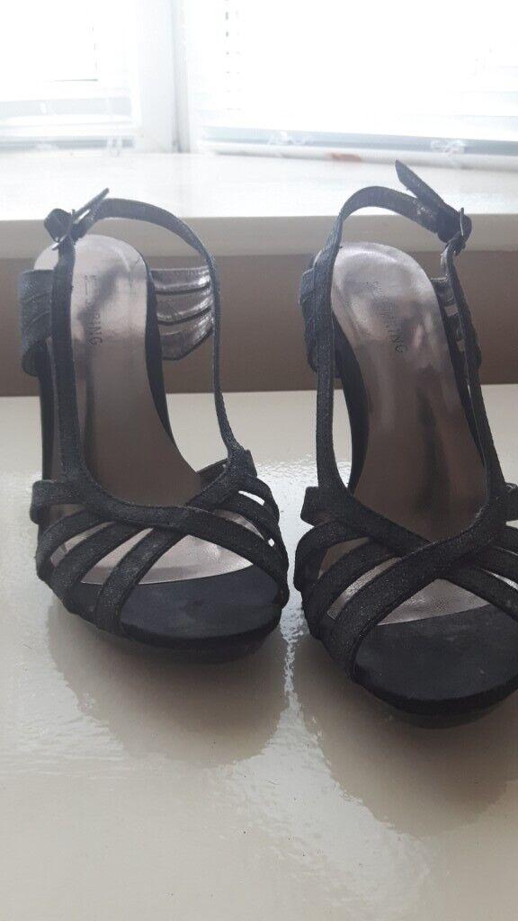 71490d16bf9 Debenhams black glitter heels size 4 | in Liverpool, Merseyside ...
