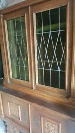 Oak display unit/ cupboard early 20th century