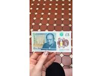 New rare AA £5