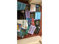 Mixed A level and GCSE text books and workbooks