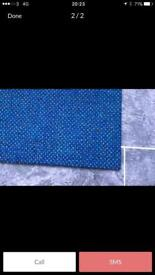 168 Heavy duty blue Carpet tiles