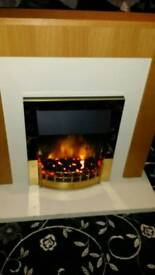 Electric fire n fireplace