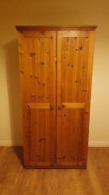 Solid pine Double bed with new matress,wardrobe,dressing table,locker all in great condition