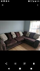 Corner sofa brown and cream with swivel chair £500 for it all