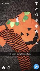 1-3 years pumpkin costume