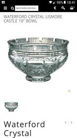 "Waterford Crystal Lismore Castle 10"" Bowl"