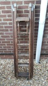 Vintage extendable ladder.