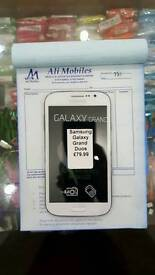 Brand New Samsung Galaxy Grand Duos(Dual Sim) 8gb Unlocked Black And White Colour Fully Boxed Up