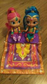 Shimmer and Shine dolls and magic toys