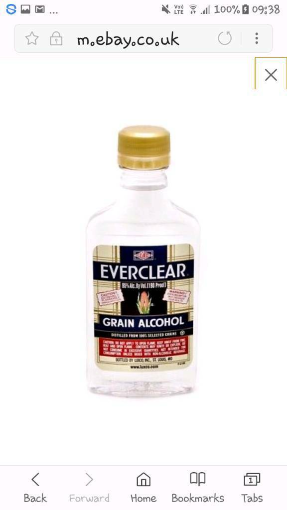 Everclear 200ml Everclear 200ml 95% pure grain 95% 190 Proof Herbal  Extraction | in Harrogate, North Yorkshire | Gumtree