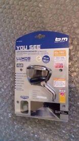 Busch+Müller Lumotec IQ2 LUXOS U LED Dynamo light - W/USB output port to charge USB devices onthe go
