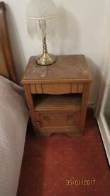 FRENCH BEDSIDE CABINET MARBLE TOP WITH DRAW AND CUBOARD