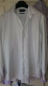 Mens shirt, Marks & Spencer tailoring,easy iron,pure cotton,41/16