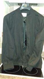 Gents black bomber jacket - never worn