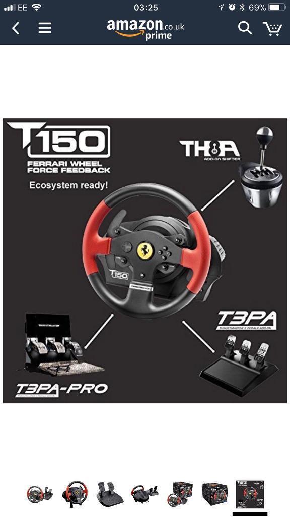 Thrustmaster T150 Ferrari Racing Wheel and Pedal Set   in The Shore,  Edinburgh   Gumtree