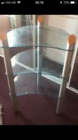 3 Tiers glass Tv stand