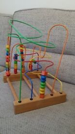 Large Wooden Beads Wire Toy
