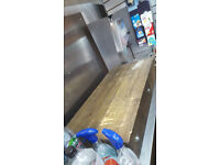Grocery Store, Meat cutting machine and butcher table.