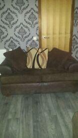bargin livingroom bundle, 3 &2 suite, fire surround and fire, teal shiny rug, & teal ornaments
