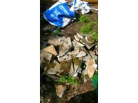 Free rubble and flags