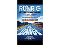 *RARE* Row A Runrig Tickets x2