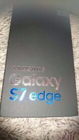 Sealed Samsung s7 edge in gold