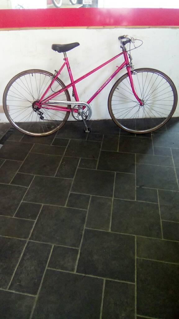 "Pink Peugeot Road Bike, 700c Wheels, 22"" Frame, 5 Speed"