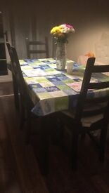 Black kitchen table and chairs from Ikea