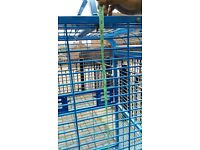 very strong heavy large cage on wheels open top used for macaw NO OFFERS