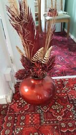 Large Vase with dried flowers