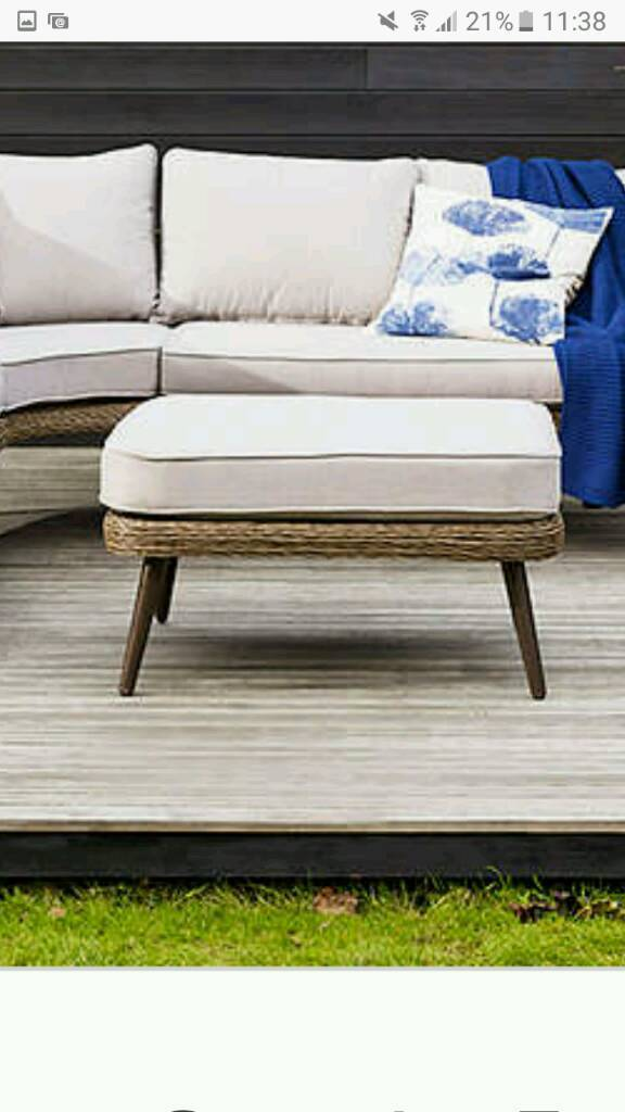 Carnaby outdoor corner suite set FOOTSTOOL ONLY (part lotin Oldham, ManchesterGumtree - New boxedCarnaby footstoolHas no feet