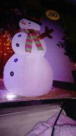 light up inflateable snowman
