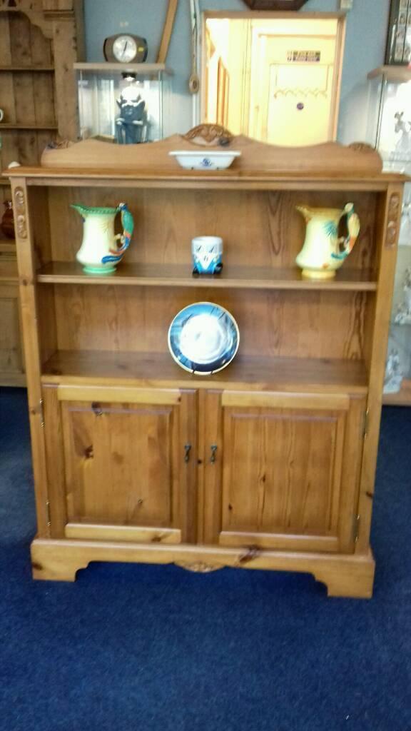 Jaycee Solid Pine Small Dresser Bookshelf