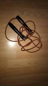 Leather skipping rope for aerobic training