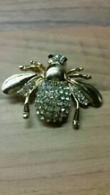 beautiful wasp pin broach. badge