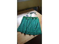 Gorgeous green halter neck tie top by F & F. Never worn. Bargain, £2