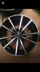 18inch fox 5 stud alloy wheels for sale