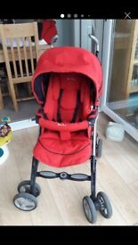 Silver cross pushchair stroller buggy carry cot great condition